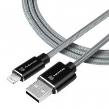 Tactical Fast Rope Aramid Cable USB-A/Lightning MFI 0,3m Grey