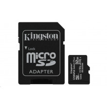 Kingston micro SDHC 32GB Canvas Select Plus 100R A1 C10 + adapter
